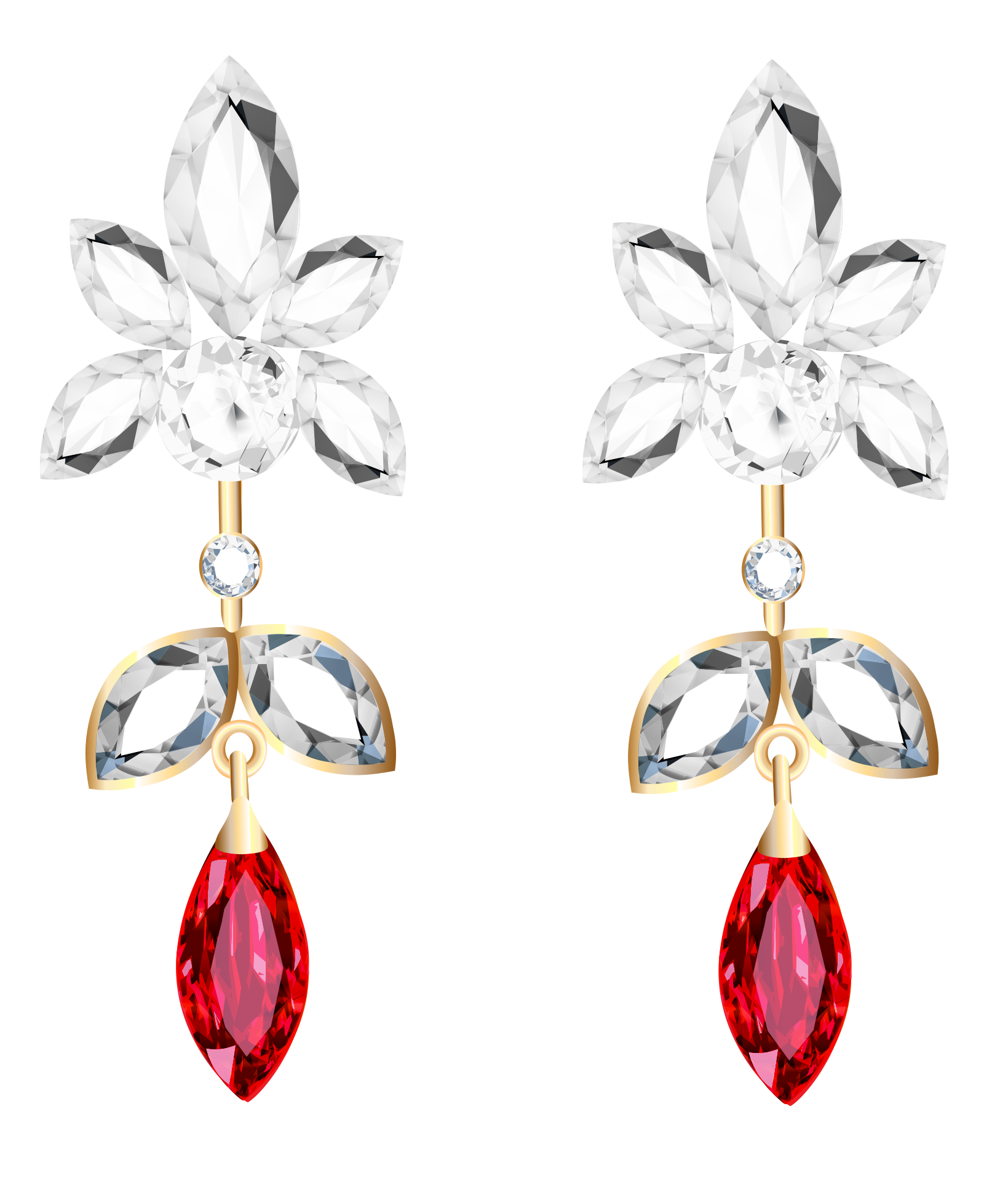 Earrings clipart images jpg free stock Transparent Diamond and Ruby Earrings PNG Clipart | Gallery ... jpg free stock