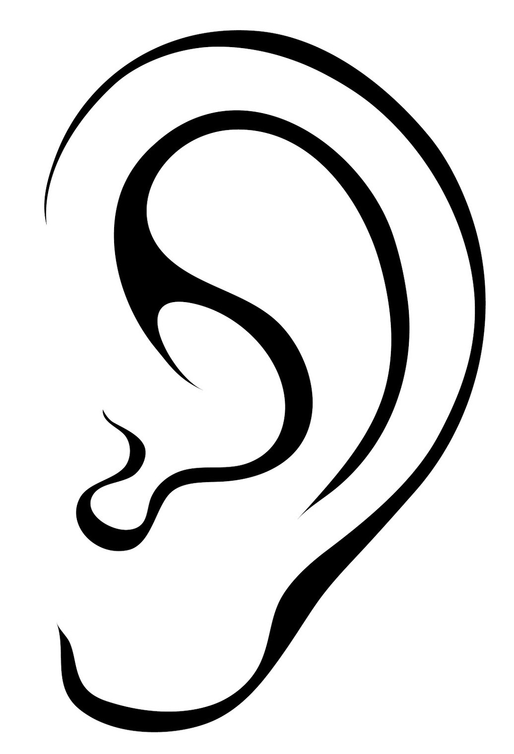 Ears clipart black and white for kids svg royalty free Category: Clip Art 151 | salaharness.org svg royalty free