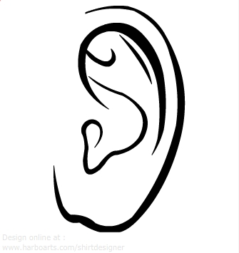 Ears clipart black and white for kids clipart royalty free Image Of Ear | Free download best Image Of Ear on ClipArtMag.com clipart royalty free