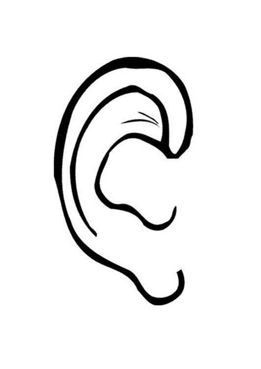 Ears clipart black and white for kids image free Best Ear Clipart #723 - Clipartion.com image free