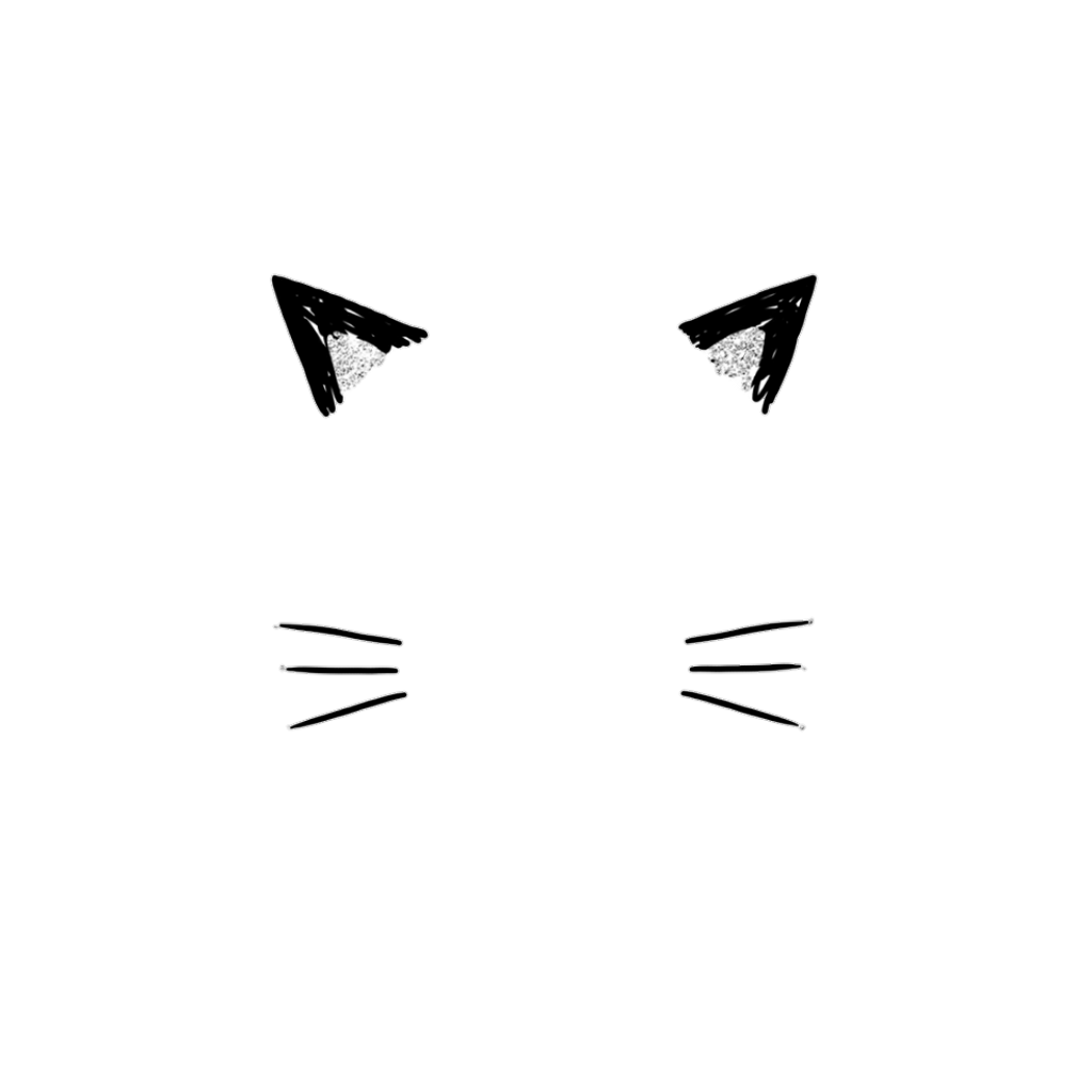 Ears for a cat clipart png black and white download cat catears ears cute png overlay kawaii... png black and white download