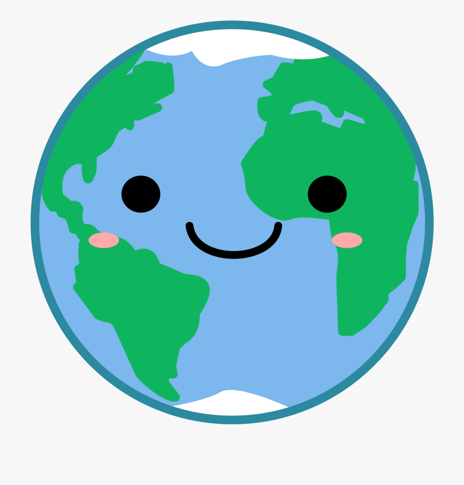 Earth clipart graphic royalty free library Globe Earth Clipart Kawaii Vector Image Transparent - Cute Earth ... graphic royalty free library