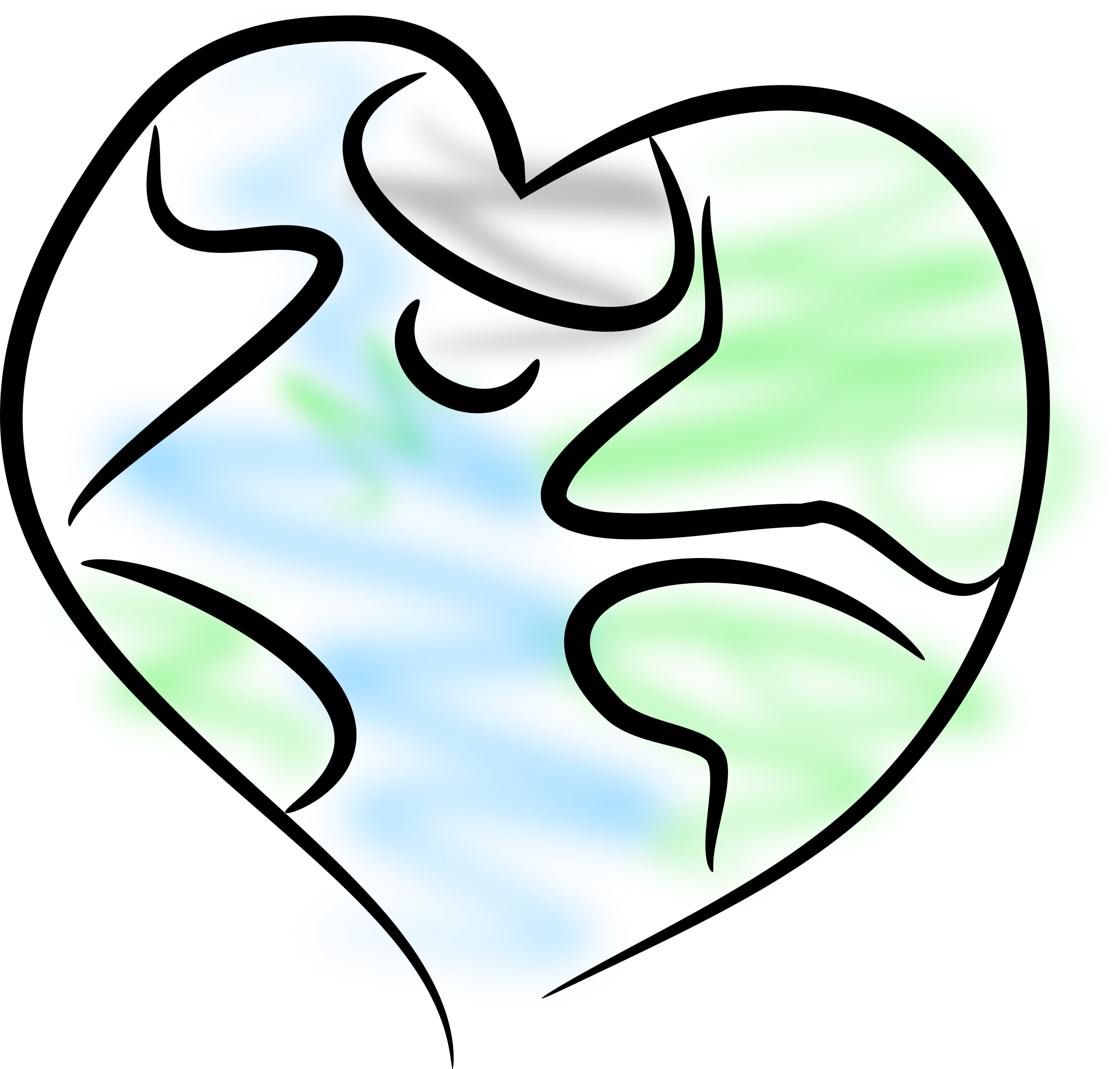 Earth heart clipart banner royalty free Clipart - Earth Heart banner royalty free