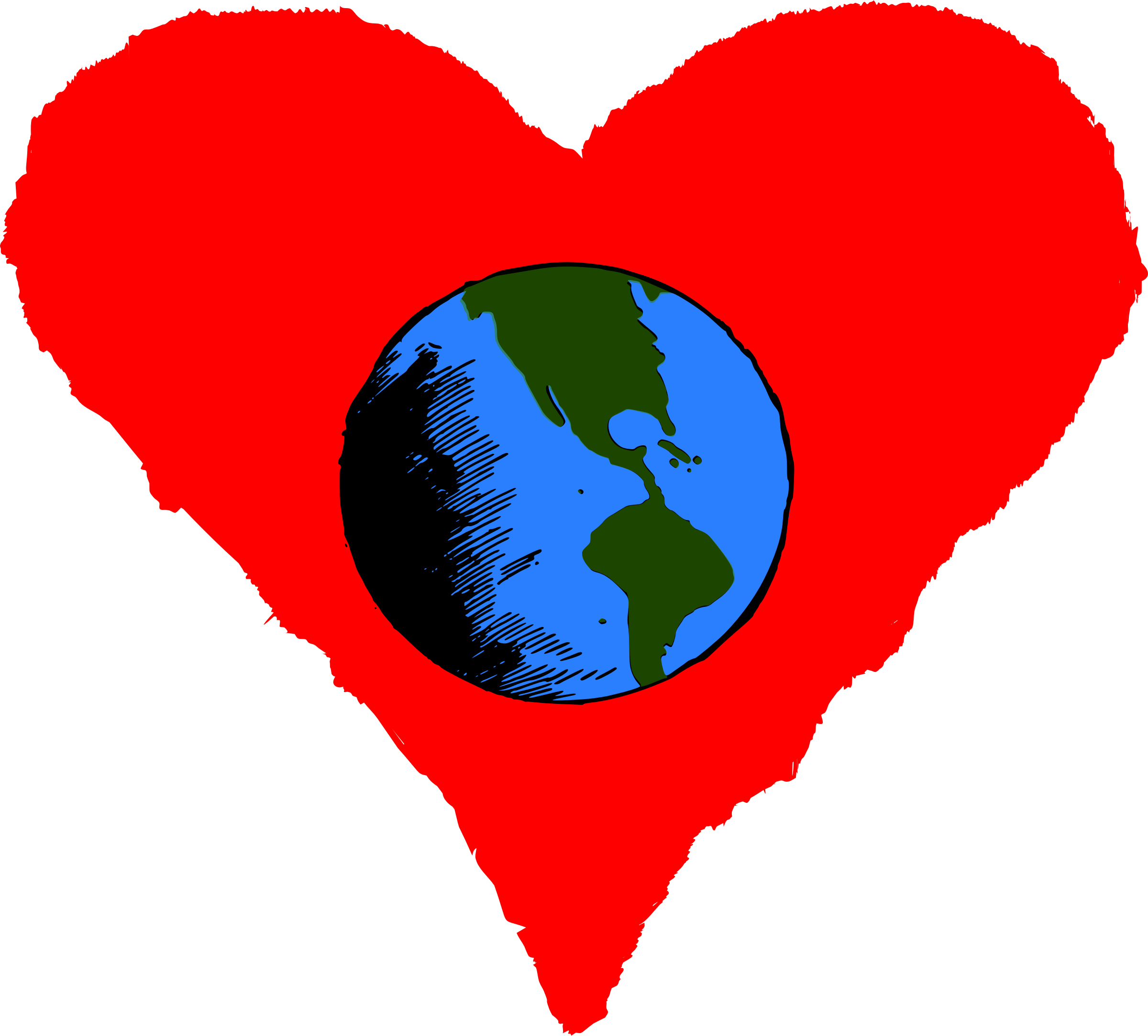 Earth heart clipart clip freeuse library Clipart - Happy Earth Day clip freeuse library