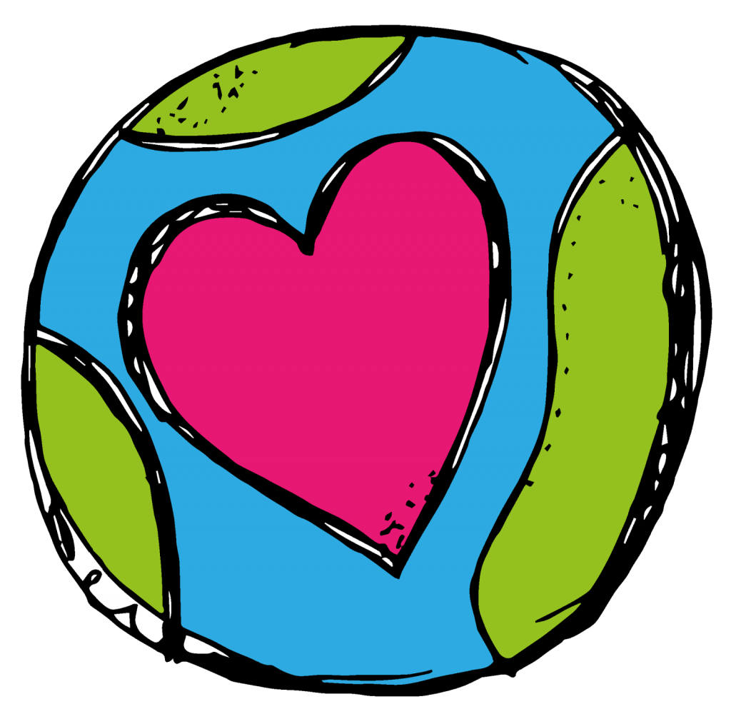 Earth and heart clipart clip free Earth Day and a Freebie - Easy Teaching Tools clip free