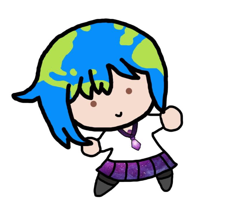 Earth chan clipart vector black and white download smol earth-chan   Earth-chan   Know Your Meme vector black and white download