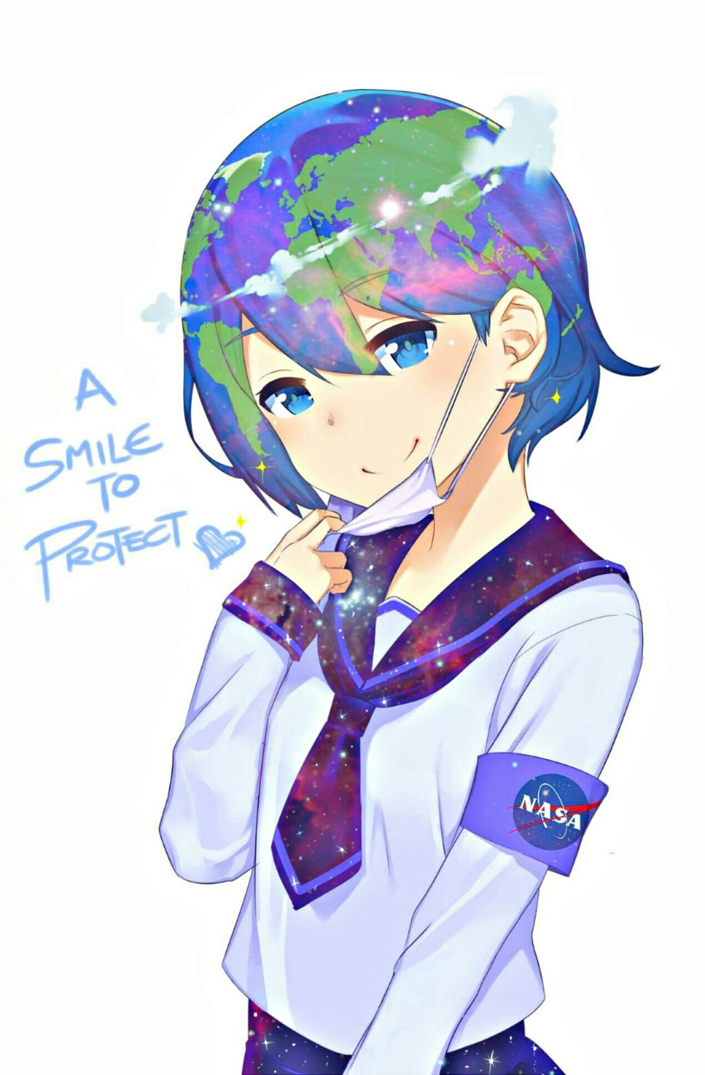 Earth chan clipart image freeuse stock edit little bit of flare earthchan earth chan anime m... image freeuse stock