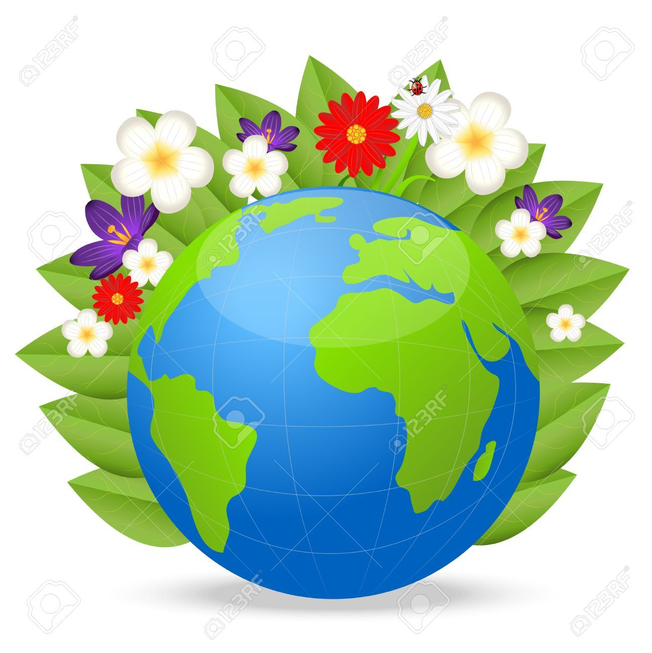 Earth clipart vector image transparent stock Stock Vector   ادوات مدرسيه +اطفال   Beautiful flowers, Earth ... image transparent stock