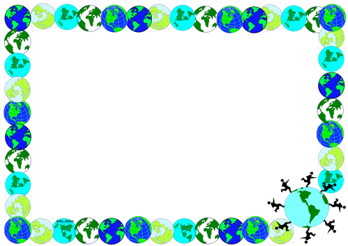 Earth day border clipart clipart freeuse Use this #EarthDay themed lined Paper and page-borders | Spring ... clipart freeuse