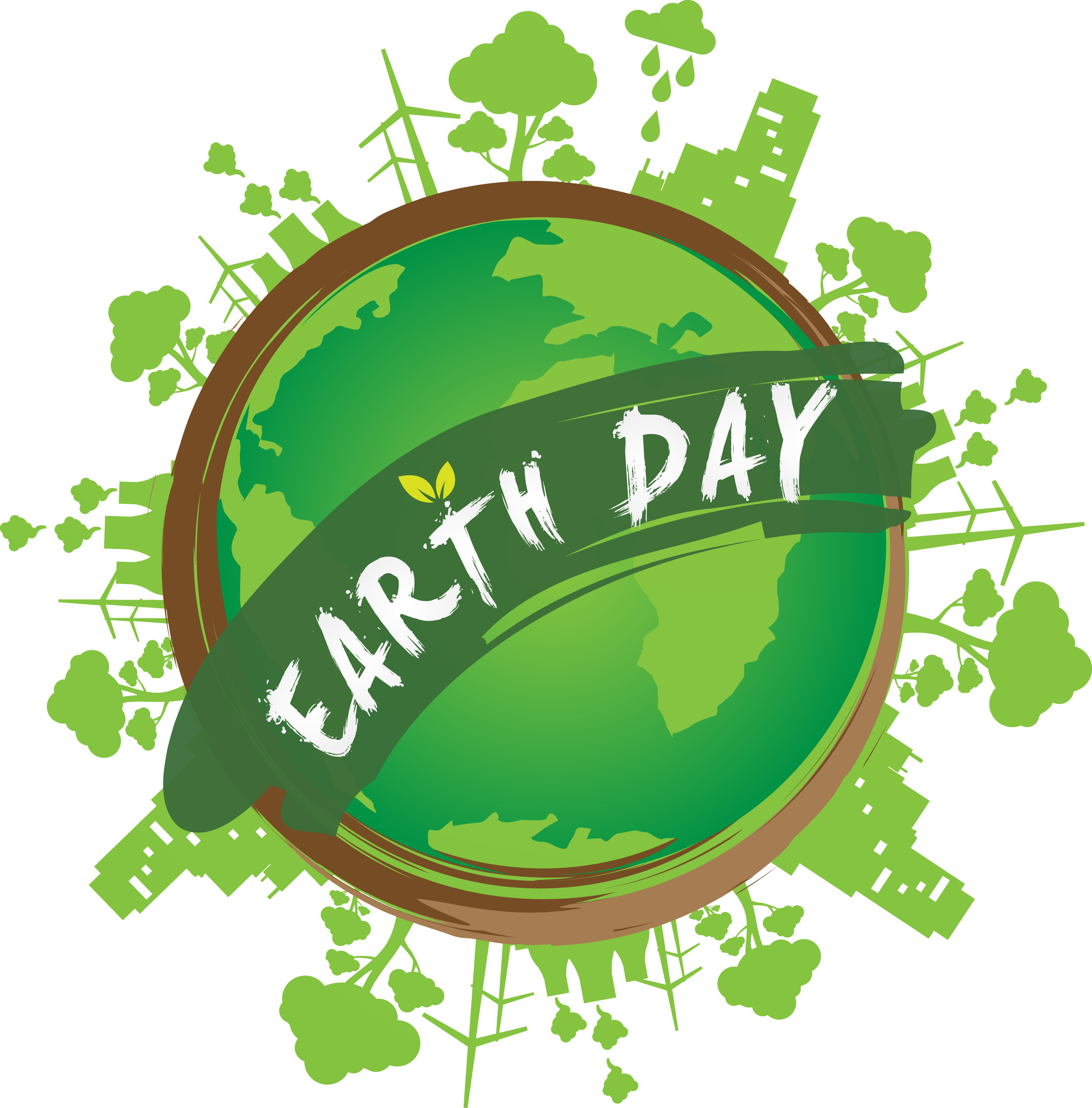 Earth day tree clipart graphic transparent stock Happy Earth Day Save Nature Green Pictures Hd - 896 - TransparentPNG graphic transparent stock