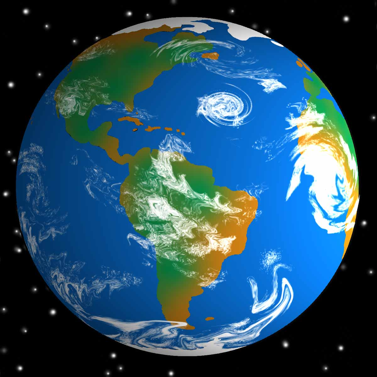 Earth from space clipart