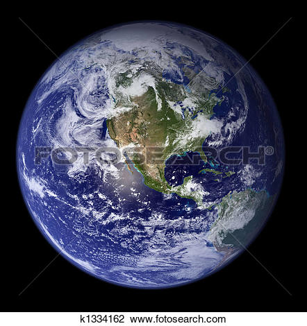 Earth from space clipart clip transparent Clip Art of Earth from space - North America k1334162 - Search ... clip transparent
