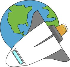 Earth from space clipart clipart Rocket Ship Clip Art Free | Cartoon Rocketship Space Alien Pla ... clipart