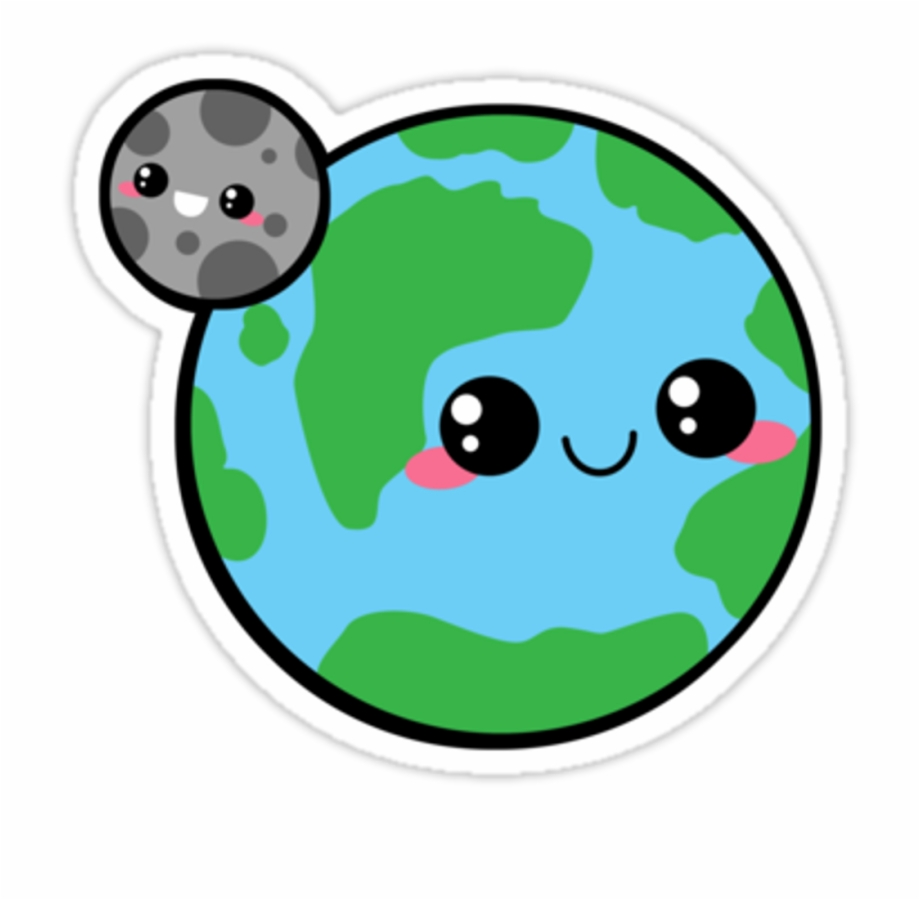 Earth from the moon clipart clip art free library kawaii #earth #moon #planet #cute #scplanets #freetoedit - Moon And ... clip art free library