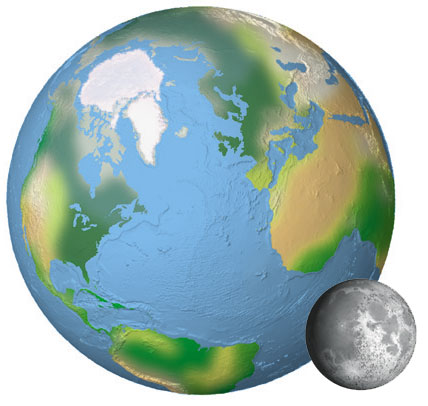 Earth from the moon clipart image free Earth And Moon Clipart image free