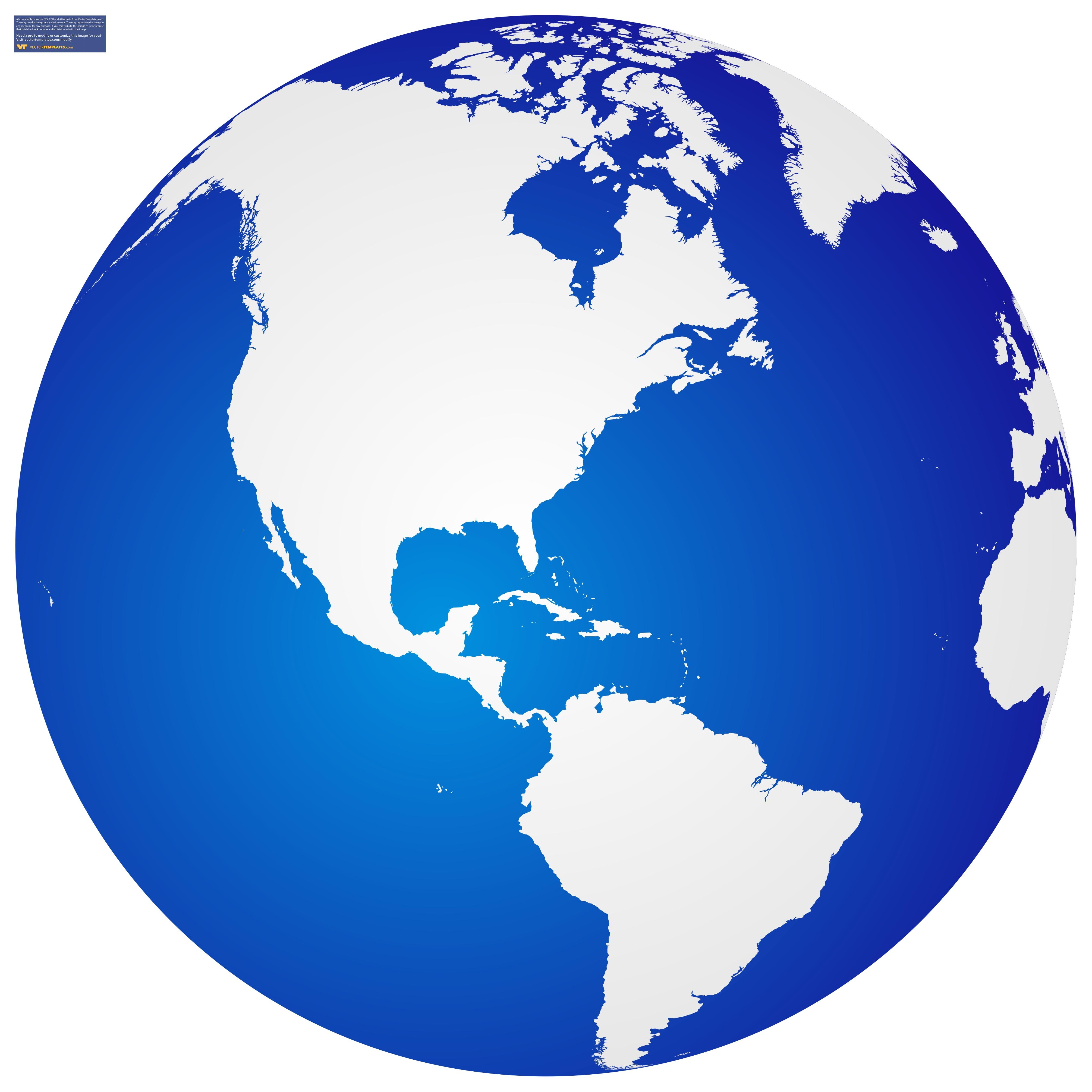 Globe vector clipart