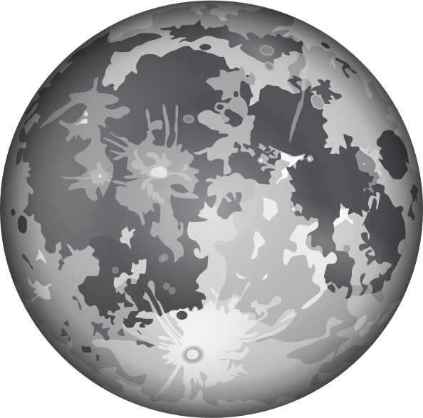 Earth sun and moon clipart black and white vector free library The Moon Clip Art at Clker.com - vector clip art online, royalty ... vector free library