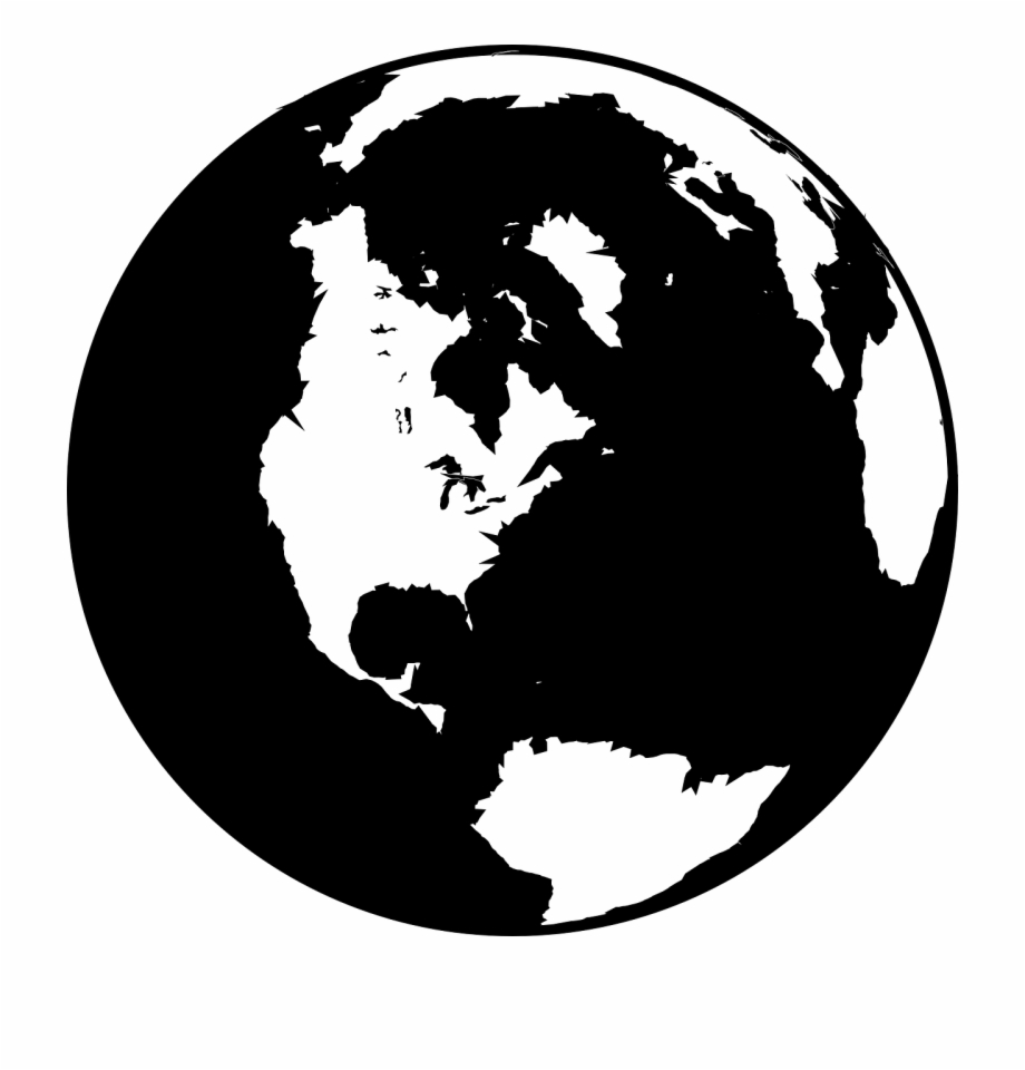 Free world globe clipart black and white graphic royalty free download Black And White Globe Clip Art At Vector Clip Art Png - Earth Logo ... graphic royalty free download
