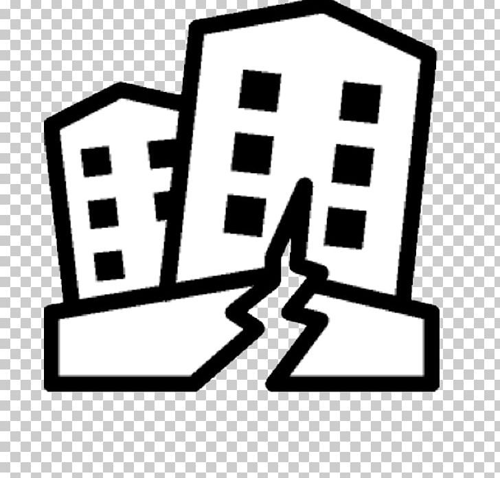Earthquake clipart black and white image black and white Earthquake Warning System Computer Icons PNG, Clipart, Aftershock ... image black and white