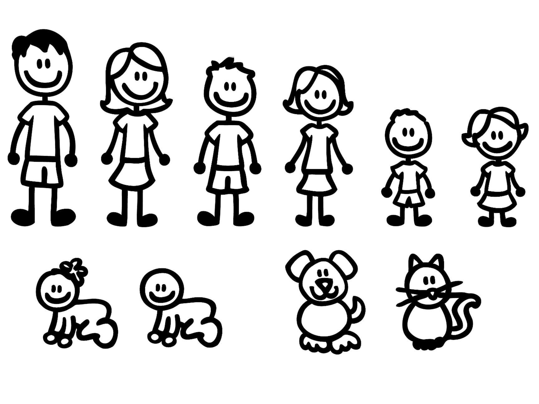 Family clipart 5 people stick people png royalty free library 10 STICK FIGURE FAMILY your stick figure family can be applied to ... png royalty free library
