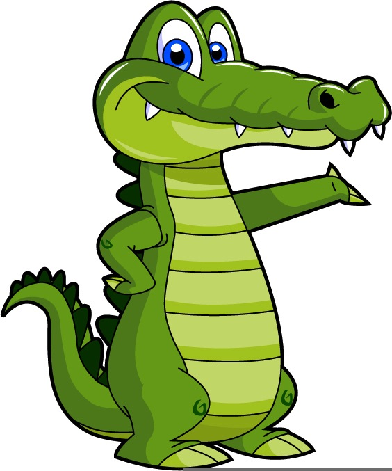 Easter alligator clipart