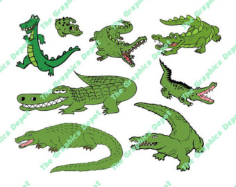 Easter alligator clipart picture download Alligator clipart | Etsy picture download