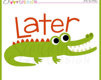 Easter alligator clipart clip art transparent library Alligator clipart | Etsy clip art transparent library