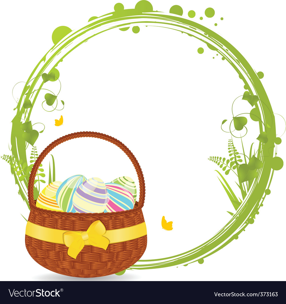 Easter basket border clipart clipart transparent stock Easter basket border clipart transparent stock
