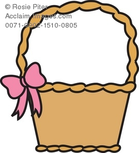 Easter basket clip art royalty free library Clipart Illustration of an Easter Basket - Acclaim Stock Photography royalty free library