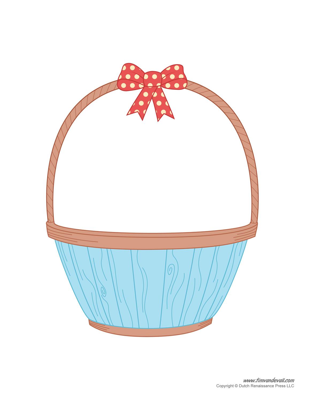 Easter basket clip art clipart freeuse stock Easter Basket Template, Easter Basket Clipart & Easter Craft clipart freeuse stock