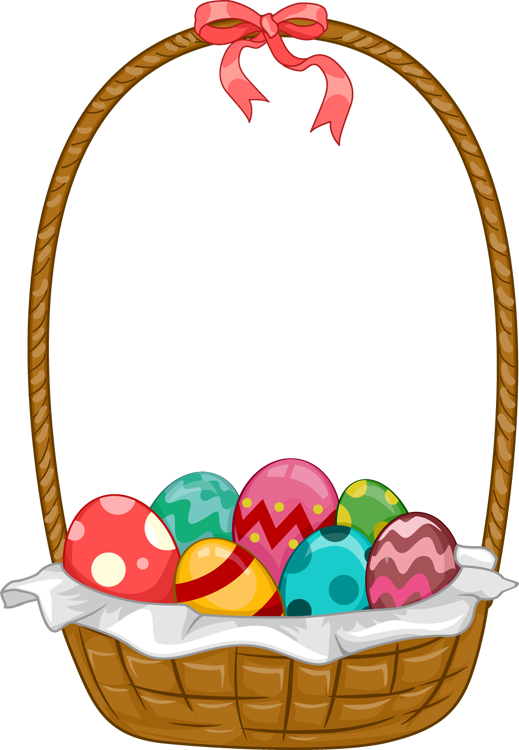 Easter basket clipart with a cross in it jpg black and white library Easter Basket Clipart - Clipart Kid jpg black and white library
