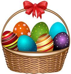Easter basket clipart vector transparent stock Easter Basket Clip Art Image | Easter clip | Pinterest | Baskets ... vector transparent stock