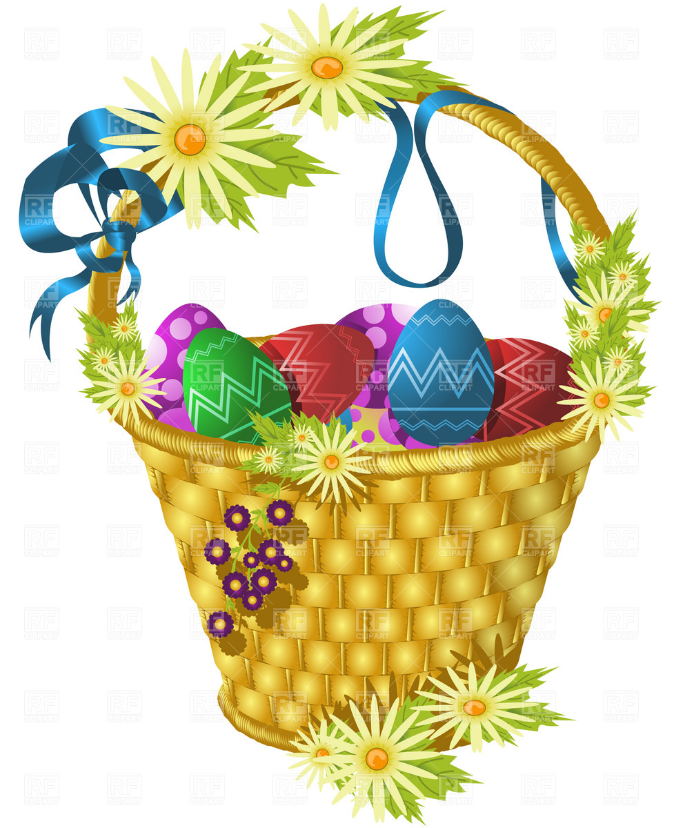 Easter basket clipart free image transparent stock Easter Basket Clipart - Clipart Kid image transparent stock