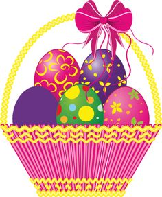 Easter basket clipart free picture transparent 17 Free Easter Egg and Easter Basket Clip Art Designs | Clip art ... picture transparent