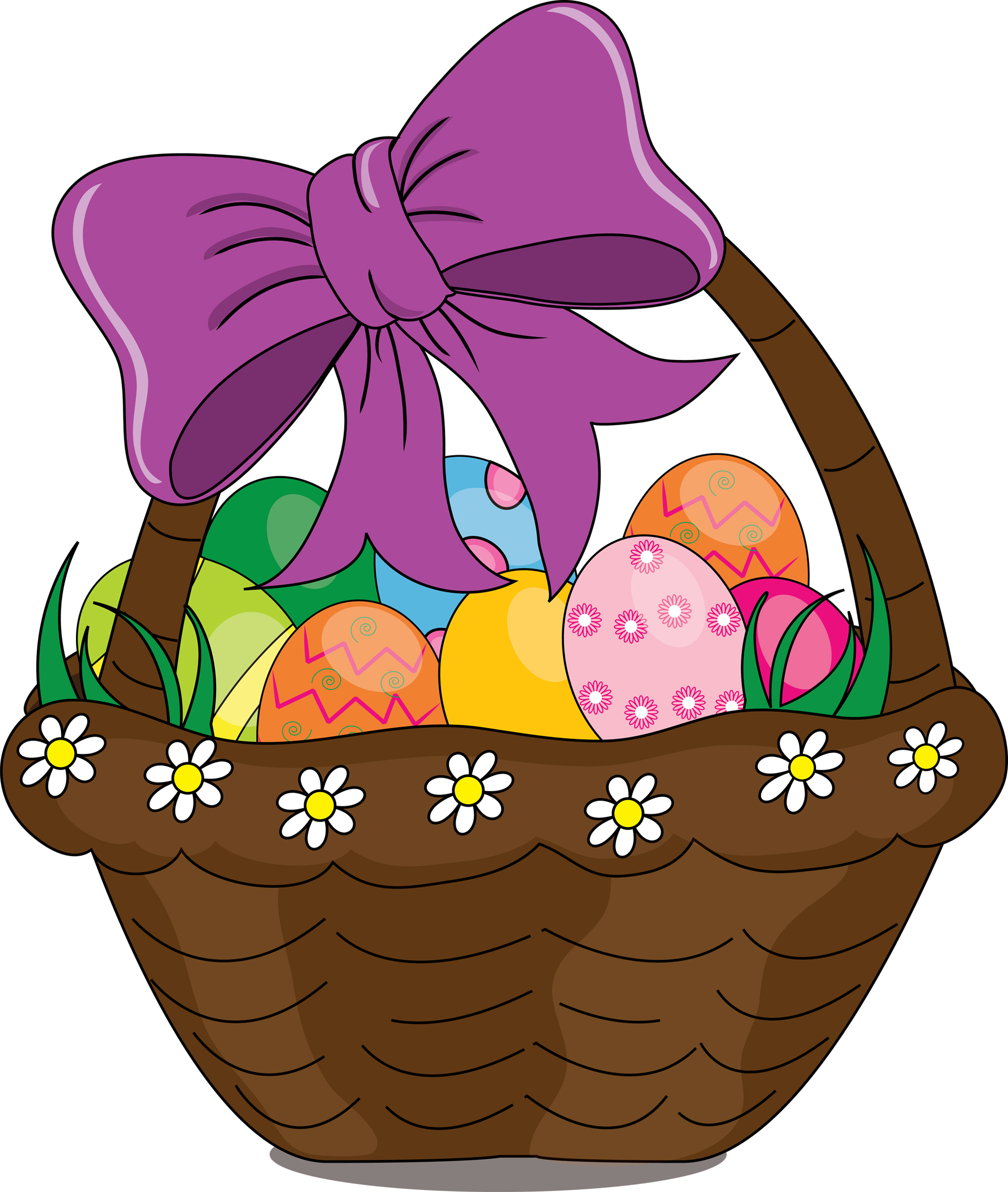 Easter basket clipart free picture free library Easter basket clipart - ClipartFest picture free library