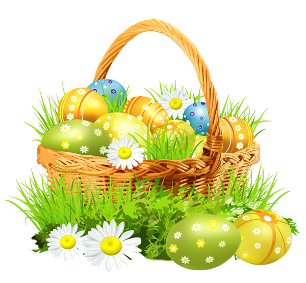 Easter basket clipart with a cross in it svg freeuse images of easter decoration png clipart ... svg freeuse