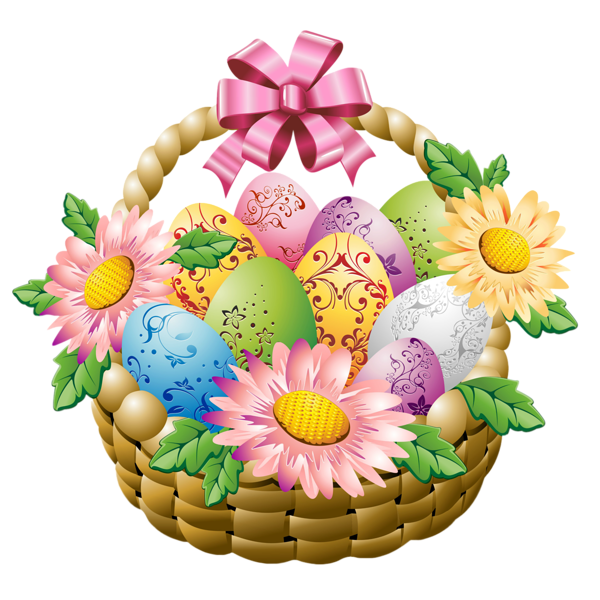 Easter basket clipart with a cross in it clipart library flowers kiss smiley gallery png ... clipart library