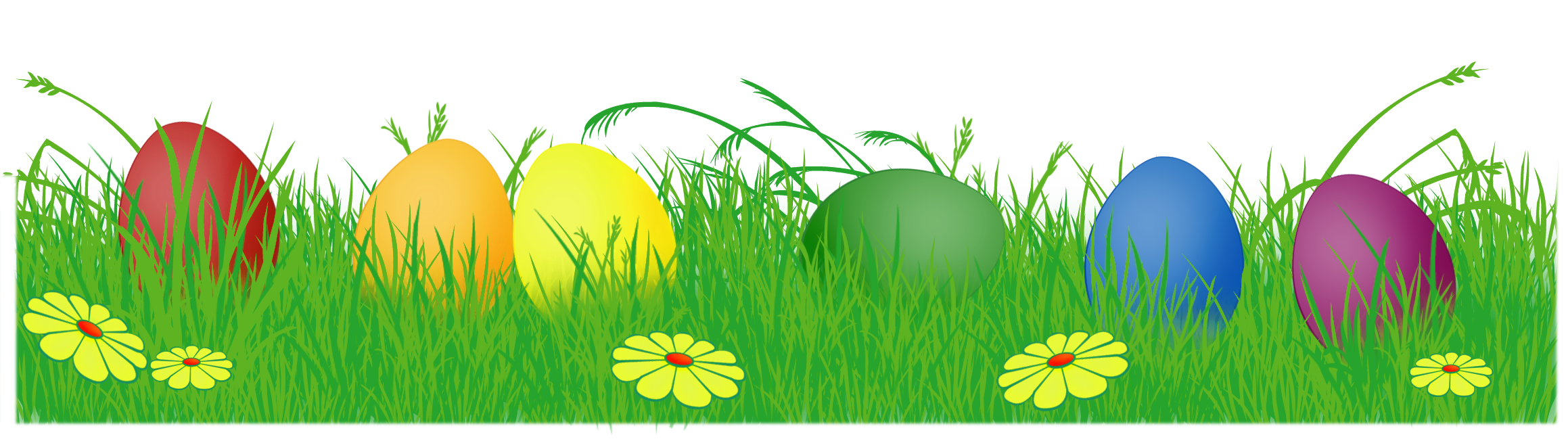 Easter egg border clipart clipart royalty free download Easter basket grass clipart - ClipartFest clipart royalty free download