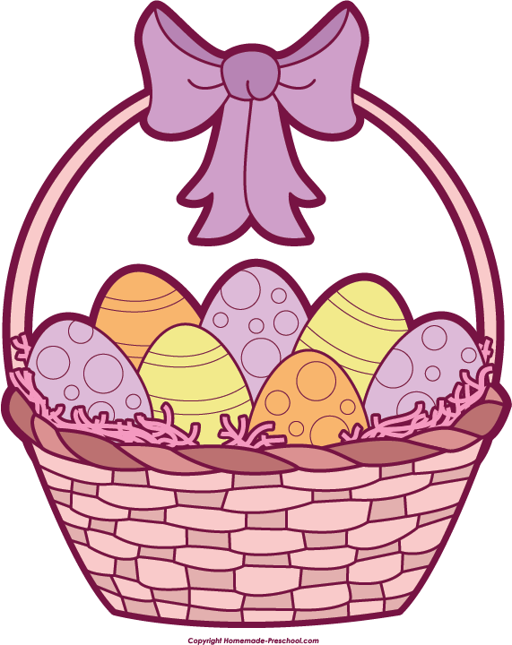 Easter basket clipart with a cross in it banner transparent library Free Easter Basket Clipart banner transparent library