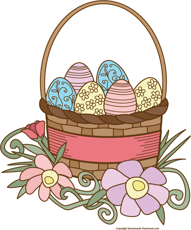 Clipart of easter basket png free library Easter basket grass clipart - ClipartFest png free library