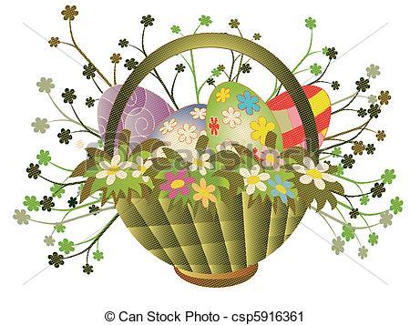 Easter basket pictures clipart clipart transparent download Easter basket Clip Art Vector Graphics. 6,882 Easter basket EPS ... clipart transparent download