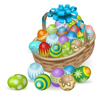 Easter basket pictures clipart png black and white 13,656 Easter Basket Cliparts, Stock Vector And Royalty Free ... png black and white