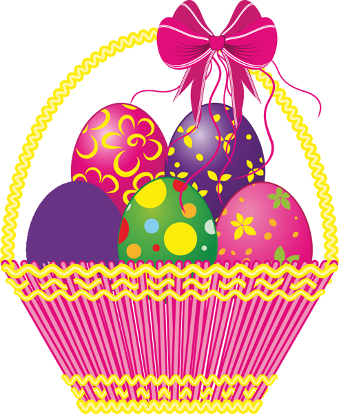 Easter basket pictures clipart vector transparent stock Easter basket free clipart images - ClipartFest vector transparent stock