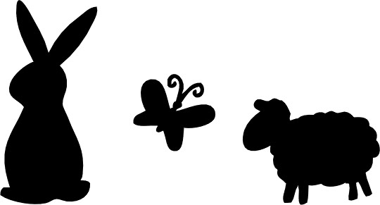 Easter basket silhouette clipart download Easter Bunny Silhouettes Clipart - Clipart Kid download