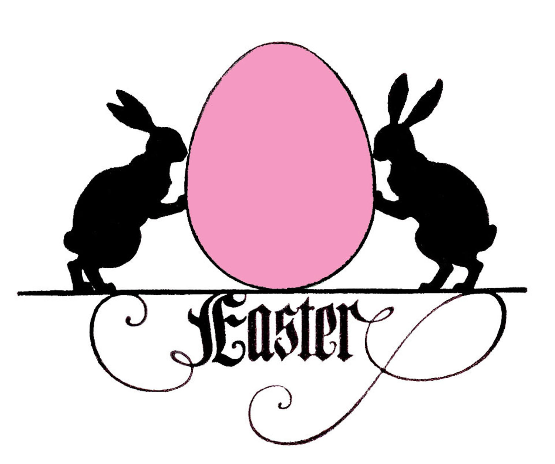Easter basket silhouette clipart transparent download Easter Bunny Silhouettes Clipart - Clipart Kid transparent download
