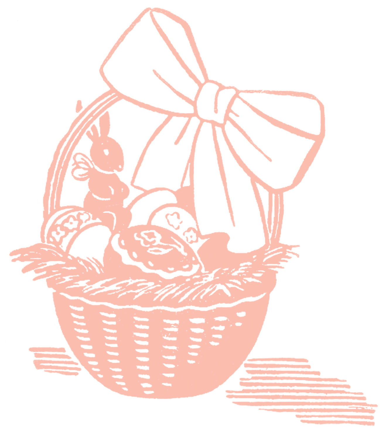 Easter basket silhouette clipart picture royalty free Easter basket silhouette clipart - ClipartFest picture royalty free