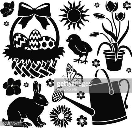 Easter basket silhouette clipart png library download Pinterest • The world's catalog of ideas png library download