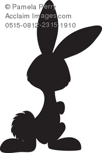 Easter basket silhouette clipart clip free stock Easter Bunny Silhouettes Clipart - Clipart Kid clip free stock