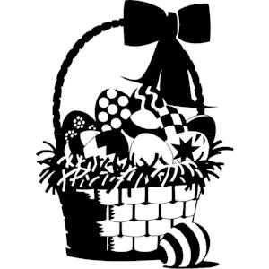 Easter basket silhouette clipart jpg transparent download Easter basket silhouette clipart - ClipartFest jpg transparent download
