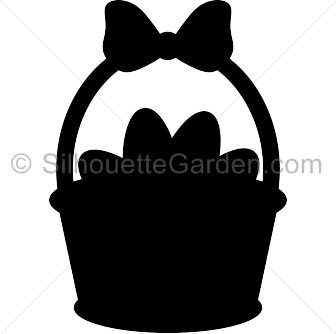 Easter basket silhouette clipart banner free library Easter basket silhouette clipart - ClipartFest banner free library